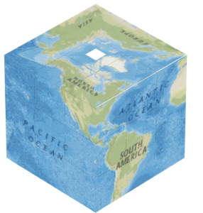 Cube World Map.Cube World Projection Puzzle Fun Easy To Make But A Challenge To